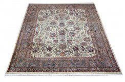 Beżowy piękny dywan Saruk z Indii ok 250x300cm 100% wełna oryginalny ręcznie tkany perski