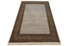 Wełniany ręcznie tkany dywan Mir Royal z Indii 170x250cm orientalny brązowy