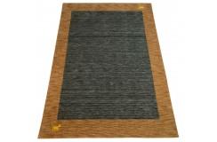 Gładki 100% wełniany dywan Gabbeh Handloom kolorowy 170x240cm delikatne motywy zwierzęce