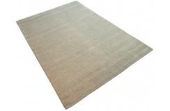 Gładki 100% wełniany dywan Gabbeh Handloom beż 170x240cm bez wzorów