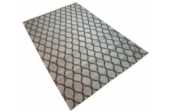 Designerski dywan z wiskozy i bawełny 150x240 żakardowy marokańska koniczyna