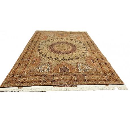 Dywan Tabriz 50Raj wełna kork+jedwab najwyższej jakości dywan z Iranu ok 250x350cm wart 177 000zł