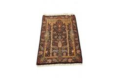 KOM - unikat perski dywan (GHOM) 100% jedwab ręcznie tkany Iran oryginalny 100x154cm