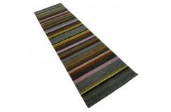 Kolorowy 100% wełniany dywan Gabbeh w pasy chodnik 80x300cm