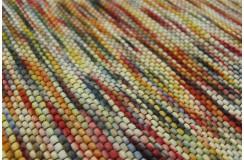 Luksusowy płasko tkanu dywan BRINKER CARPETS Wood Wall Multi wełna filcowana 160x230cm kolorowy