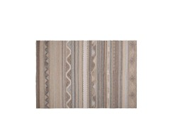 Płasko tkany kilim dywan wełniany Brinker Carpets Brainwash 40251 160x230cm brązy