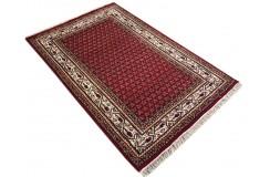 Wełniany ręcznie tkany dywan Mir z Indii 120x180cm orientalny czerwony