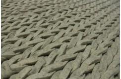 Luksusowy dywan Montèl Miro 170x230cm 100% wełna owcza filcowana warkocze szary