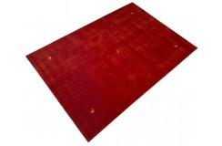 Gładki 100% wełniany dywan Gabbeh Loribaft czerwony 200x300cm delikatne motywy zwierzęce