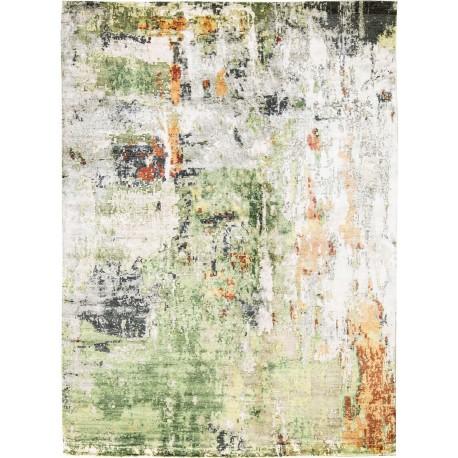Unikatowy dywan jedwabny z Nepalu deseń vintage 250x300cm luksus