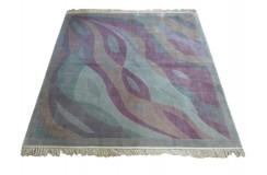 Jedwabny ręcznie tkany dywan z Chin, unikat 2x2m 100% jedwab na jedwabiu