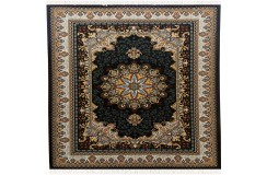 Pałacowy gęsto tkany 595 000 pęczków dywan z Iranu Topriss Carpet 300x400cm czarny made In Iran Handlook
