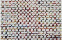 Dwustronny gruby duży tkany dywan Brinker Carpets Sunshine Multi Red 240x340cm 100% wełna owcza filcowana zaplatany wart 6 800zł