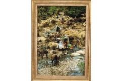 Dywan Tabriz 50Raj wełna kork najwyższej jakości dywan z Iranu obrazowy