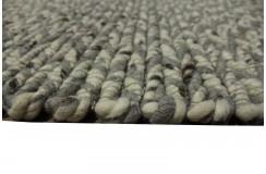 Luksusowy dywan zaplatany z wełny filcowanej szary 160x230cm gruby dwustronny
