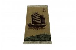 Kwiatowy jedwabny dywan z Chin ręcznie tkany uniat cenny 61x122cm