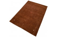 Gładki 100% wełniany dywan Gabbeh Handloom brązowy 170x240cm