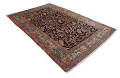 Gęsto tkany kwiatowy piękny dywan Kurdyjski Senneh 160x245cm 100% wełna oryginalny perski luksusowy