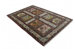 Bogaty klasyczny beżowy perski dywan Kerman (Kirman) ok 140x200cm 100% wełna Iran