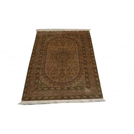 KOM - nowy piękny perski dywan (GHOM) 100% jedwab ręcznie tkany Iran oryginalny 100x150cm z podpisem