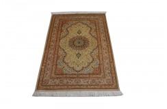 KOM - nowy piękny perski dywan (GHOM) 100% jedwab ręcznie tkany Iran oryginalny 98x147cm