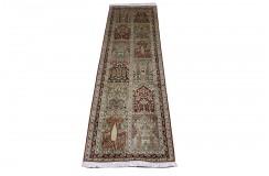 Dywan Kaszmir - Kashmir z naturalnego jedwabiu klasyczny 80x300cm Indie ręcznie tkany chodnik