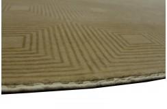 Beżowy luksusowy elegancki dywan Gabbeh Loribaft Indie 140x200cm gruby gęsty i miękki