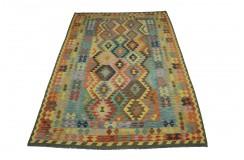 Kolorowy dywan kilim Maimana 200x300cm z Afganistanu 100% wełna dwustronny rustykalny
