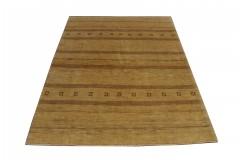 Etniczny dywan ręcznie tkany perski Fars Kaszkaj Gabbeh Loribaft Iran 100% wełna gruby 103x145 cm beżowy