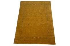Pomarańczowy ekskluzywny dywan Gabbeh Loribaft Indie 140x200cm 100% wełniany