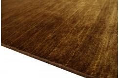 Brązowy luksusowy dywan Gabbeh Loribaft Pakistan 140x200cm gruby gęsty i miękki