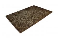 Brązowy wełniany designerski dywan 2cm gruby 160x230cm vintage Indie