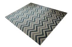 Nowoczesny wełniany dywan z Indii ręcznie tkany 240x300cm piękny wzór beż szary