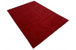 Gładki 100% wełniany dywan Gabbeh Handloom czerwony 170x240cm bez wzorów