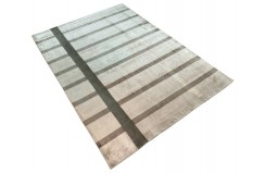 Nowoczesny dywan 100% jedwab plastyczny 200x300cm ręcznie tkany