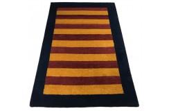 Nowoczesny dywan indyjski Gabbeh 100% wełna 120x180cm kolorowy w pasy