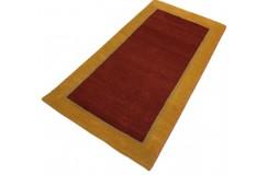 Piękny nowoczesny dywan klasyczny Gabbeh 100% wełna argentyńska żółty 90x160cm