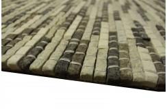 100% Wełniany naturalny dywan Brinker Carpets Stone 800 200x300cm wart 6 500zł grafit/szary wełna filcowana
