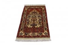 Dywan z Afganistanu 100% jedwab etniczny orientalny dywan ręcznie wykonany 113x197cm XX wiek cenny