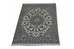 Nain 9la Habibian gęsto ręcznie tkany dywan z Iranu wełna + jedwab 120x172cm beżowy