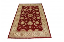 Czerwony luksusowy dywan Ziegler oryginał piękny ręcznie tkany dywan 120x180cm
