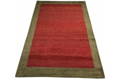 Nowoczesny dywan indyjski Gabbeh 100% wełna 120x180cm granatowy