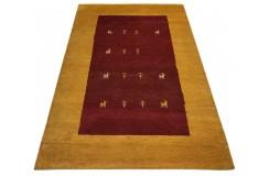 Nowoczesny dywan indyjski Gabbeh 100% wełna 120x180cm czerwony