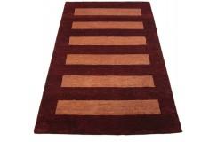 Nowoczesny dywan indyjski Gabbeh 100% wełna 120x180cm w pasy