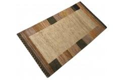 Piękny nowoczesny dywan klasyczny Gabbeh 100% wełna argentyńska brązowy 90x160cm