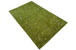 Zielony dywan vintage RUG COLLECTION do salonu 100% wełniany 150x240cm Indie