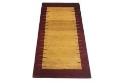Nowoczesny dywan indyjski Gabbeh 100% wełna 120x180cm czerwony żółty