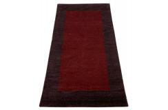 Piękny nowoczesny dywan klasyczny Gabbeh 100% wełna argentyńska bordowy 90x160cm