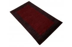 Piękny nowoczesny dywan klasyczny Gabbeh 100% wełna argentyńska bordowy 90x165cm