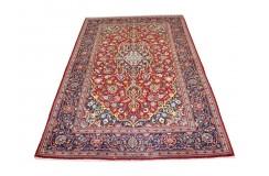 Czerwony oryginalny dywan Kashan (Keszan) półantyczny z Iranu wełna 137x222cm perski